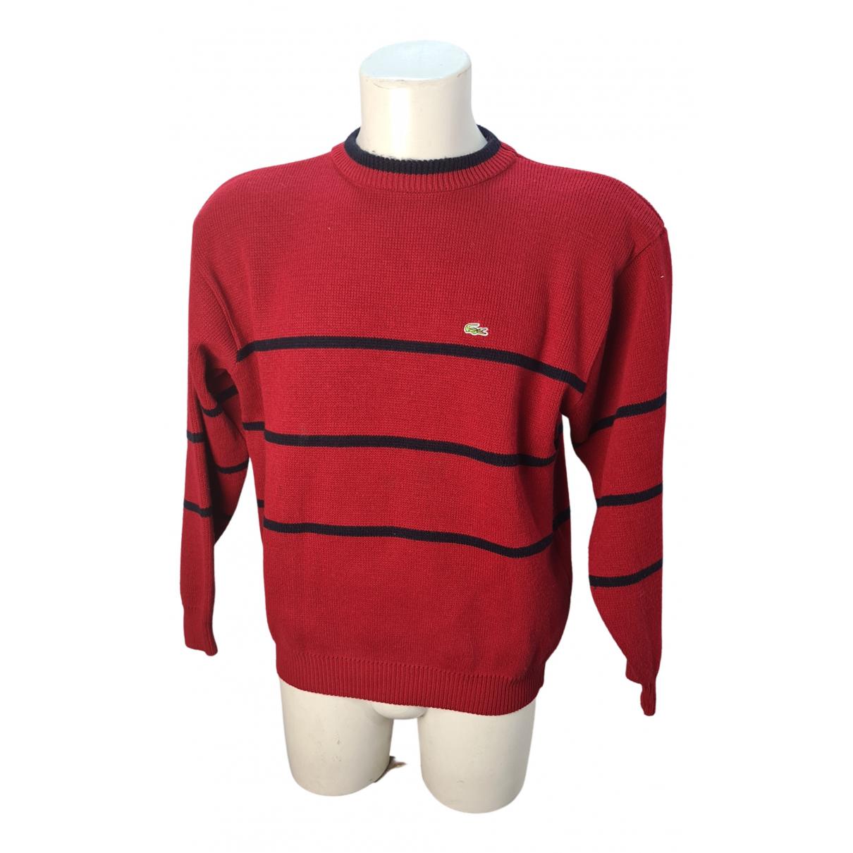 Lacoste \N Pullover.Westen.Sweatshirts  in  Rot Wolle