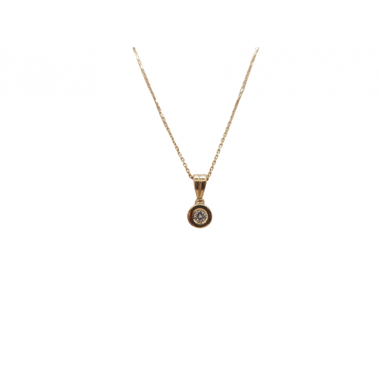 Non Signé / Unsigned \N White Yellow gold necklace for Women \N