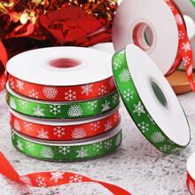 2 pieza cinta decorativa con estampado de copo de nieve