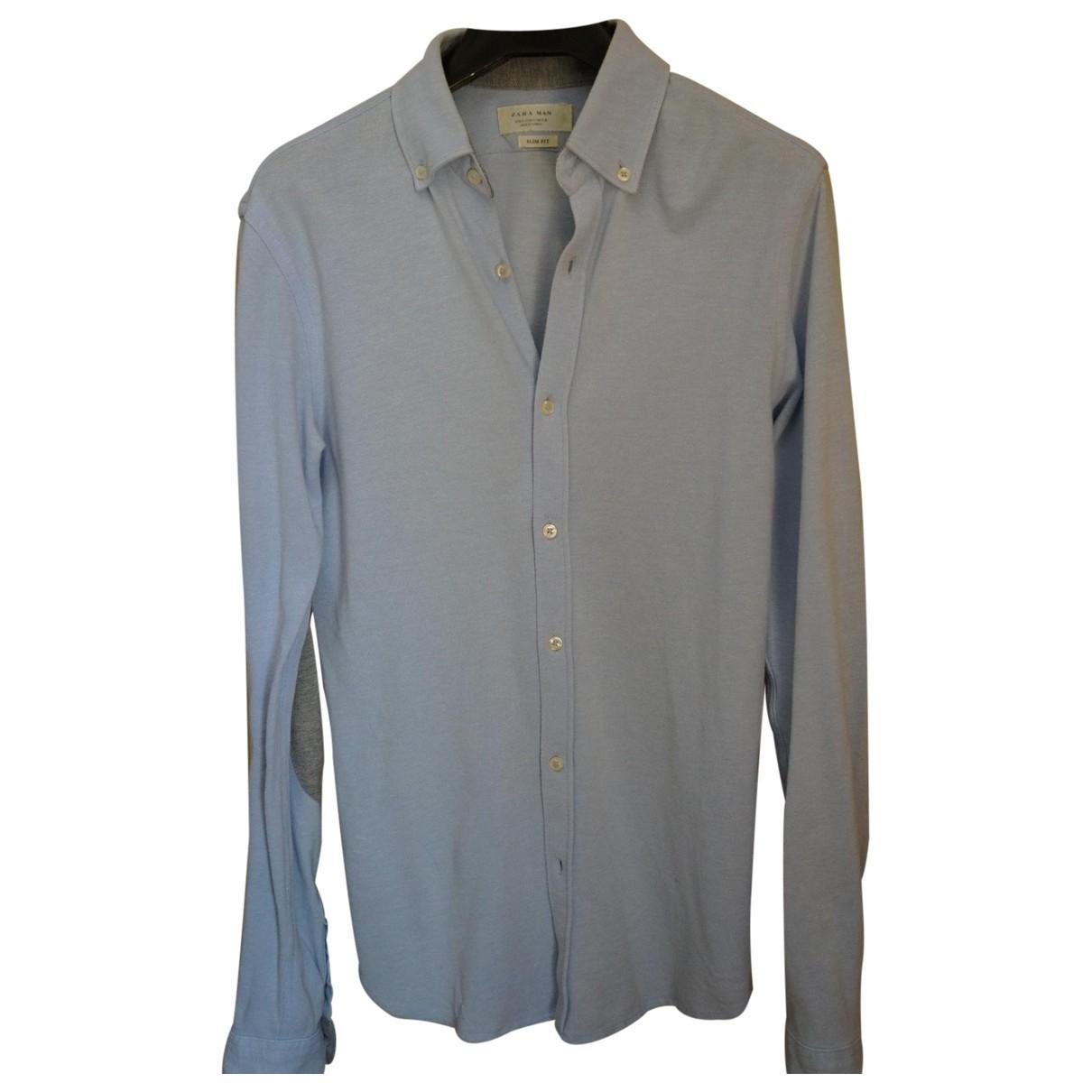 Zara \N Hemden in  Tuerkis Baumwolle