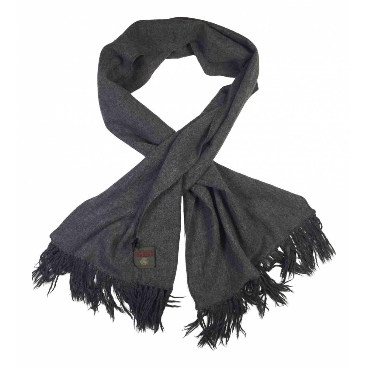 Luciano Barbera N Grey Wool scarf & pocket squares for Men N