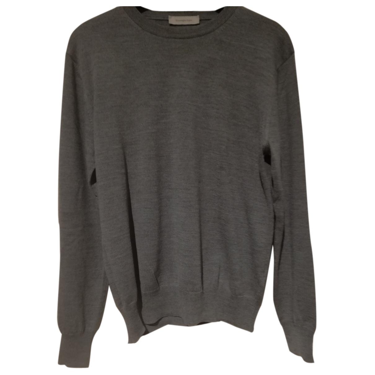 Ermenegildo Zegna \N Pullover.Westen.Sweatshirts  in  Grau Wolle