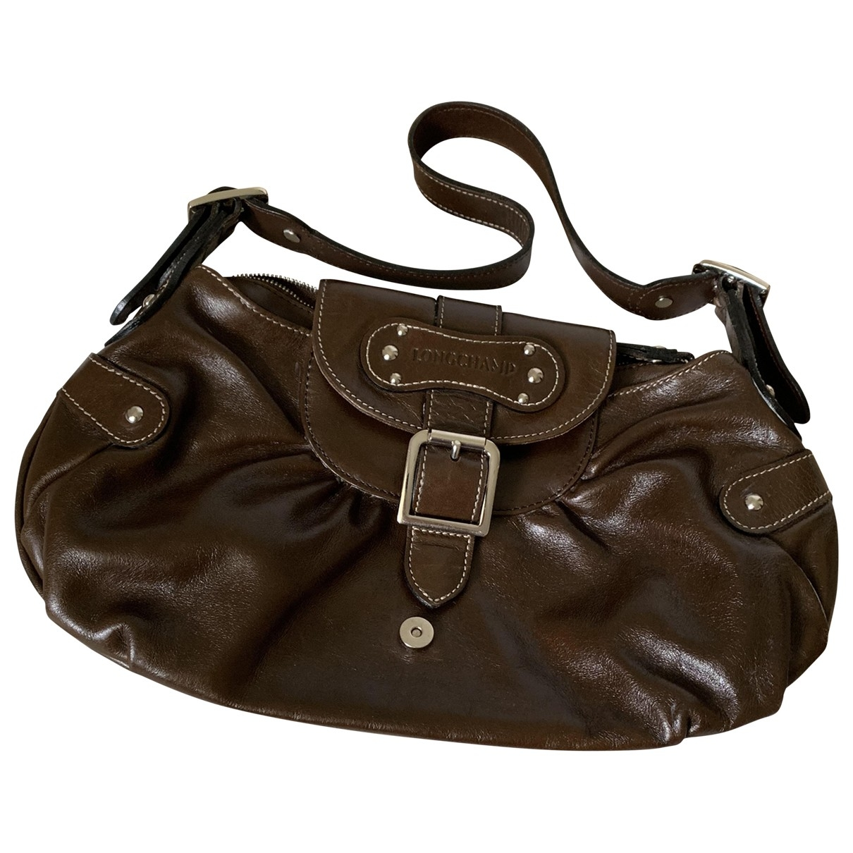 Longchamp Idole Handtasche in  Braun Leder