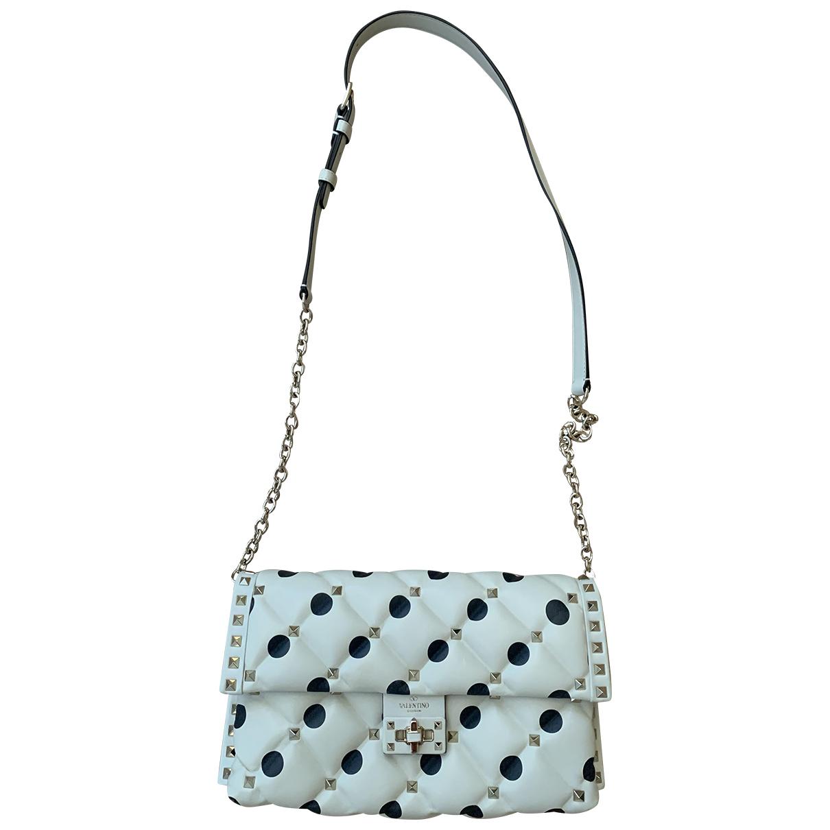 Valentino Garavani CandyStud Ecru Leather handbag for Women \N