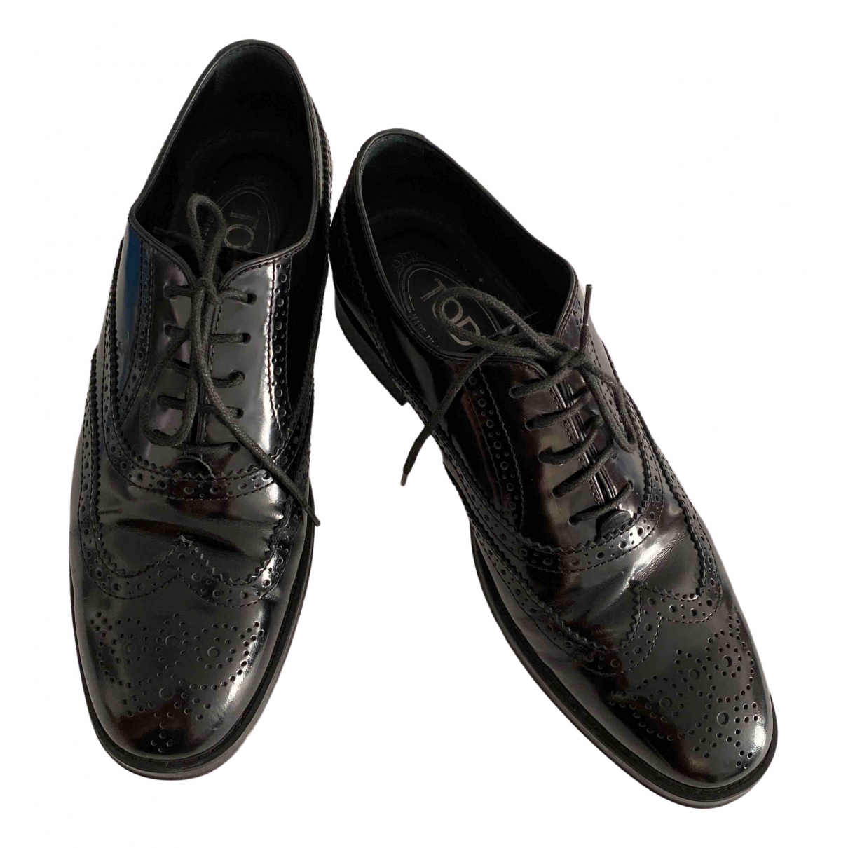 Tod's \N Black Patent leather Lace ups for Women 36.5 EU