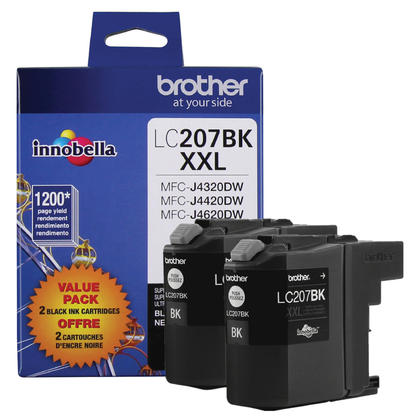 Brother MFC-J4320DW Original Black Ink Cartridge, 2 Pack - Extra High Yield