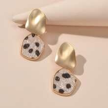 Runde Ohrringe mit Leopard Muster