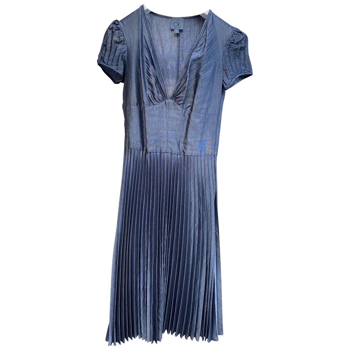 Calvin Klein \N Kleid in  Grau Viskose