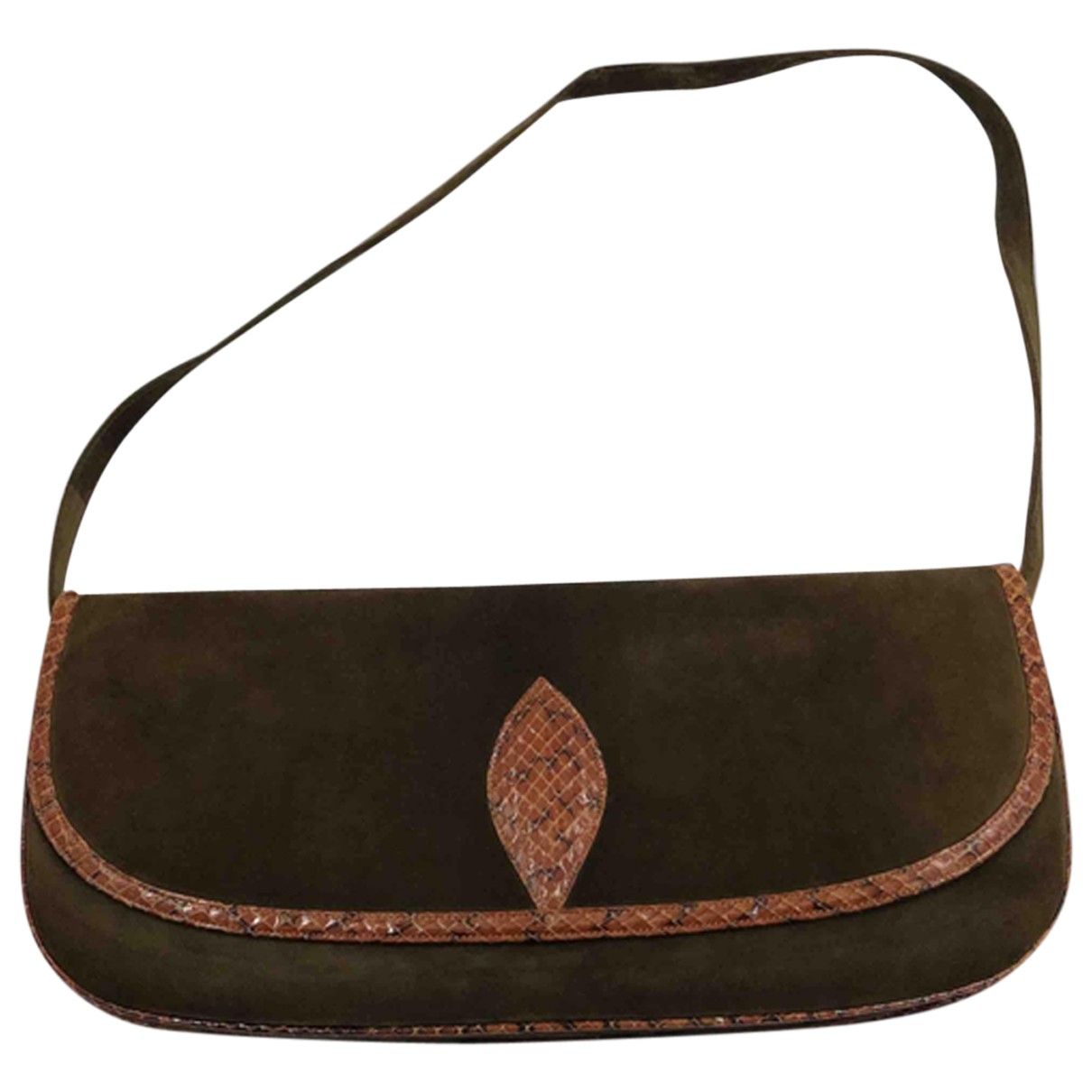 Bruno Magli \N Khaki Velvet handbag for Women \N