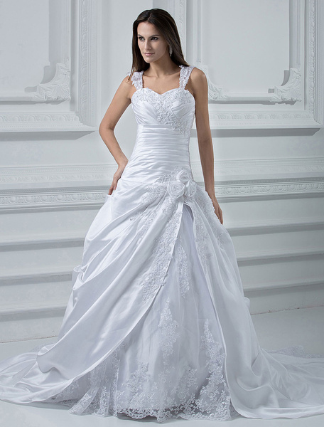 Milanoo Wedding Dress with Court Train
