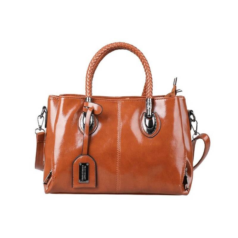 Ericdress Plain Thread PU Rectangle Casual Tote Bags