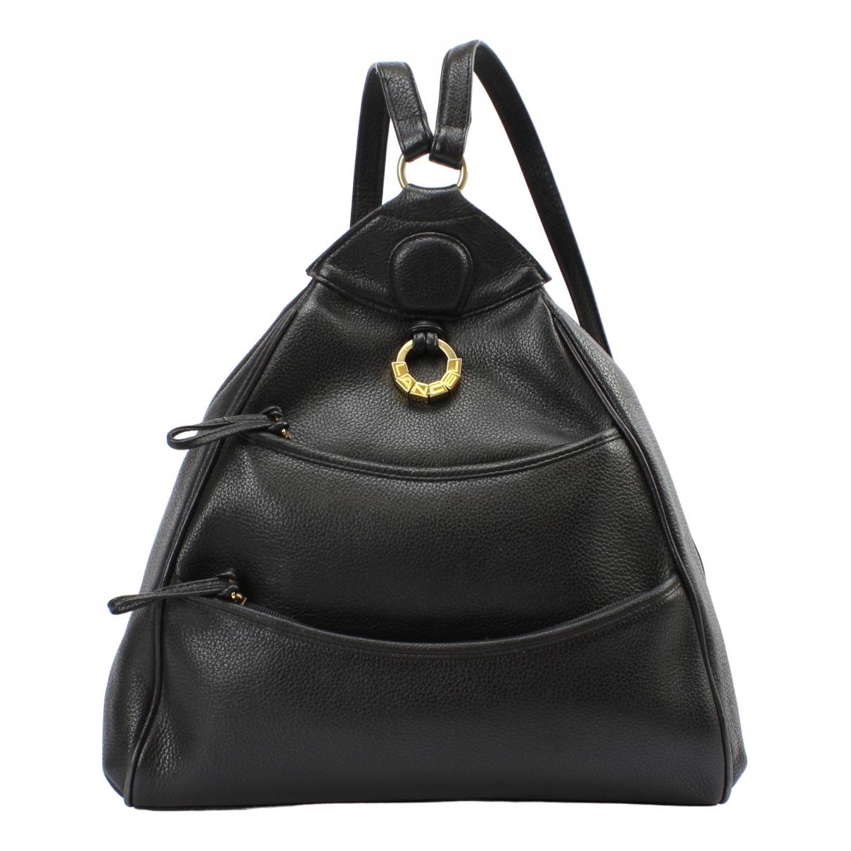 Lancel - Sac a dos   pour femme en cuir - noir