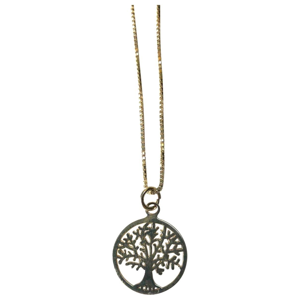Non Signé / Unsigned Motifs Floraux Silver Silver necklace for Women \N