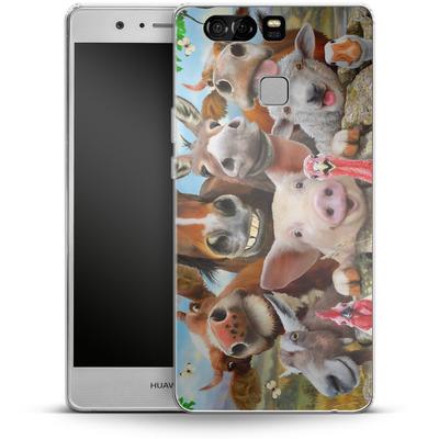 Huawei P9 Silikon Handyhuelle - Farm Selfie von Howard Robinson