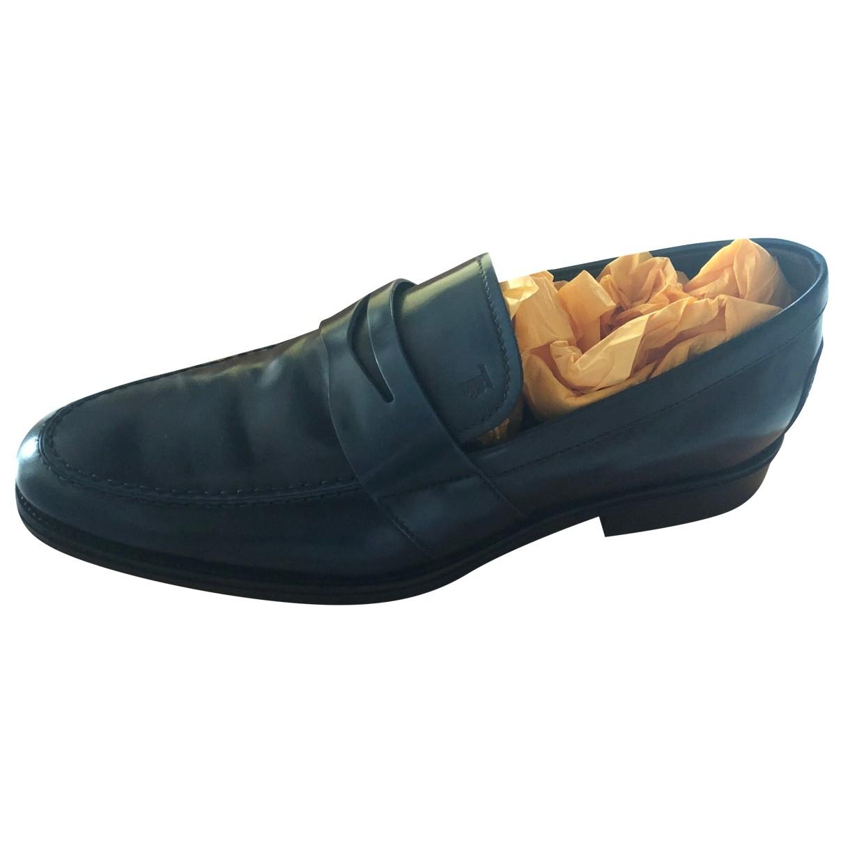 Tods - Mocassins   pour homme en cuir - bleu