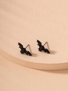 Bat Design Stud Earrings