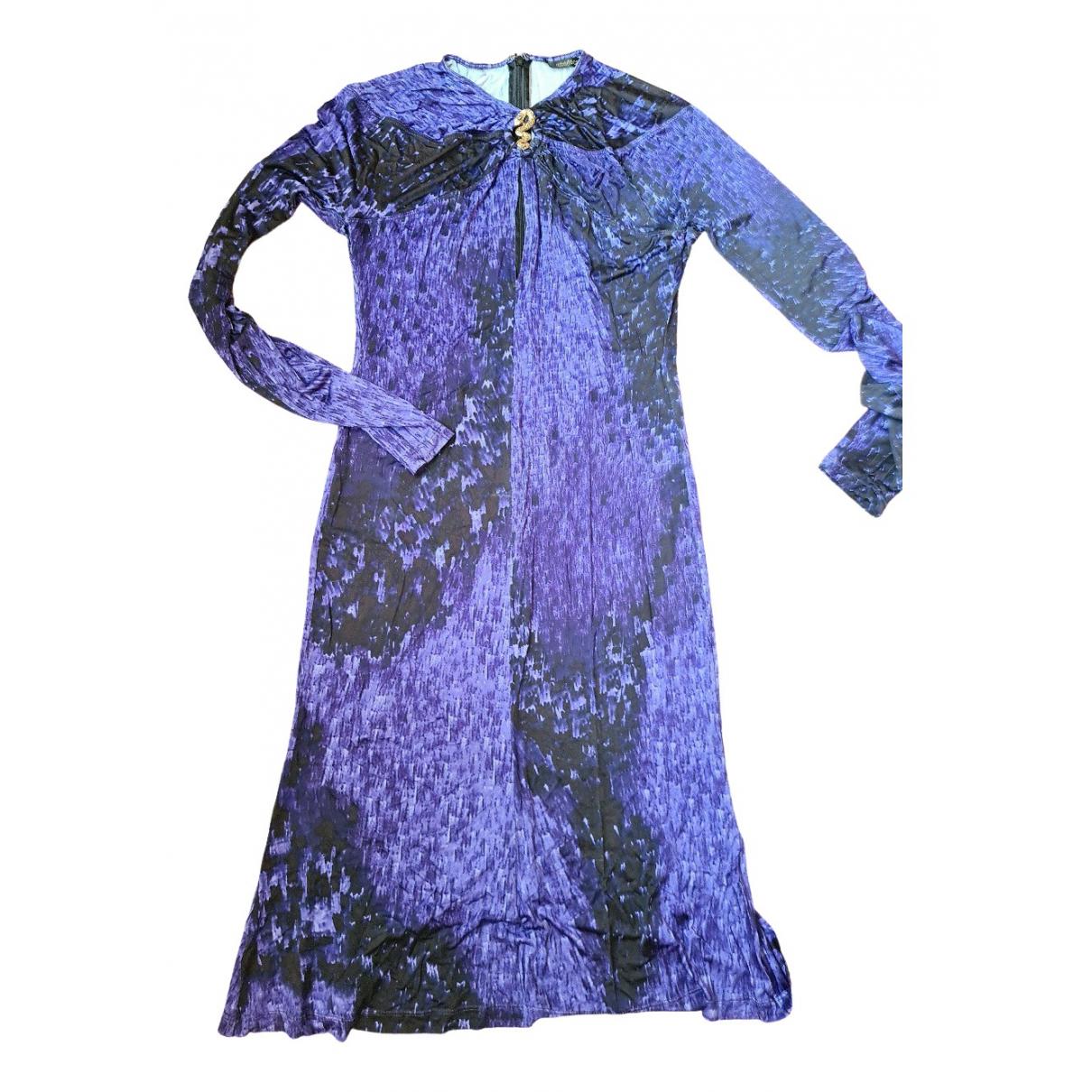 Roberto Cavalli \N Kleid in  Lila Viskose