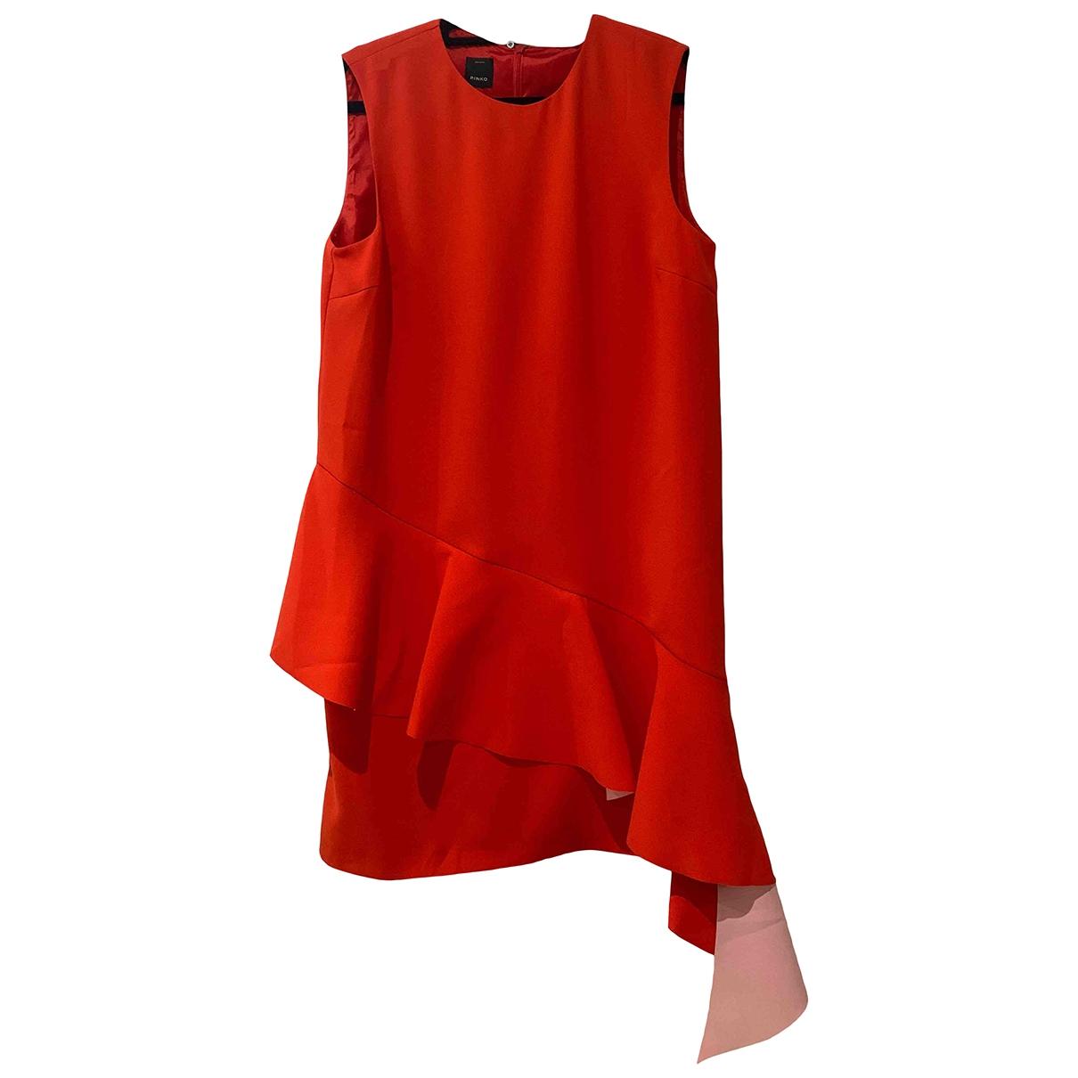 Pinko \N Kleid in  Rot Synthetik