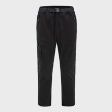 Pantalones deportivos con bolsillo con cremallera con cinturon con hebilla