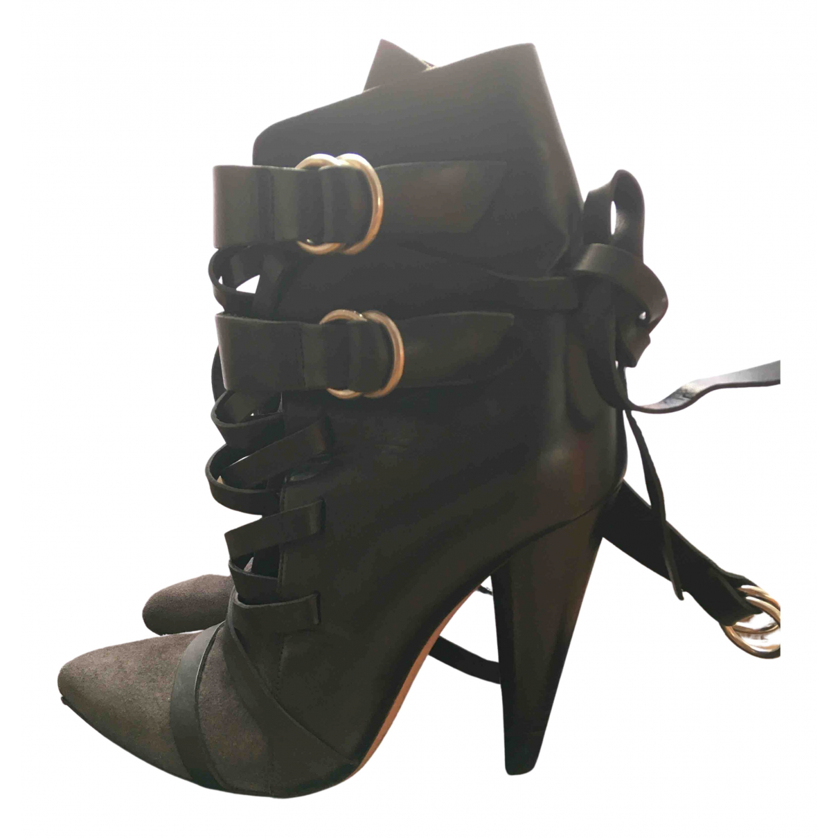 Isabel Marant N Black Suede Ankle boots for Women 38 EU