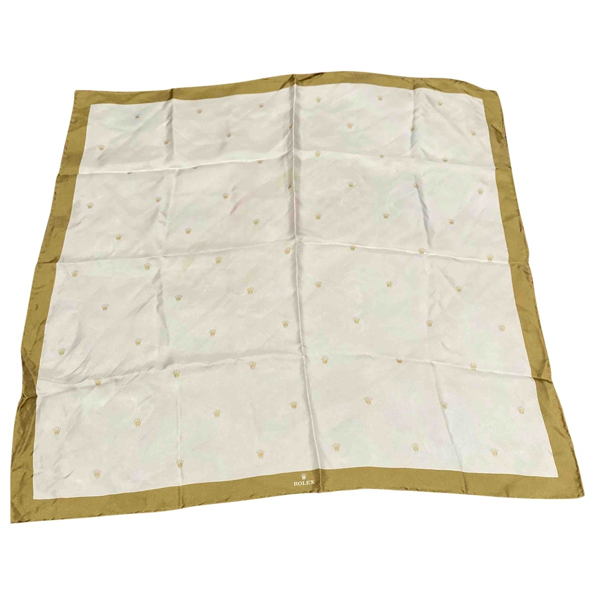 Rolex \N White Silk Silk handkerchief for Women \N