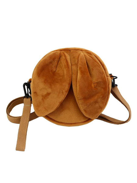 Milanoo Sweet Lolita Bag Light Pink Short Plush Shoulder Bag Lolita Accessories