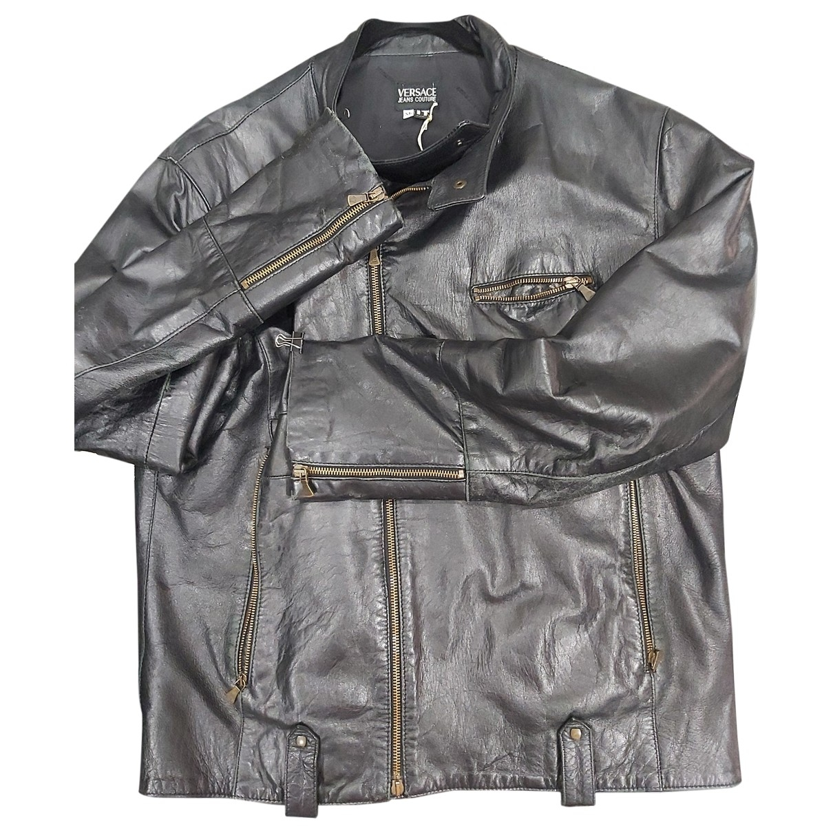 Versace Jeans \N Jacke in  Schwarz Leder