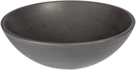 EB_S003BL-H Small Vessel Sink Bowl - Honed Black