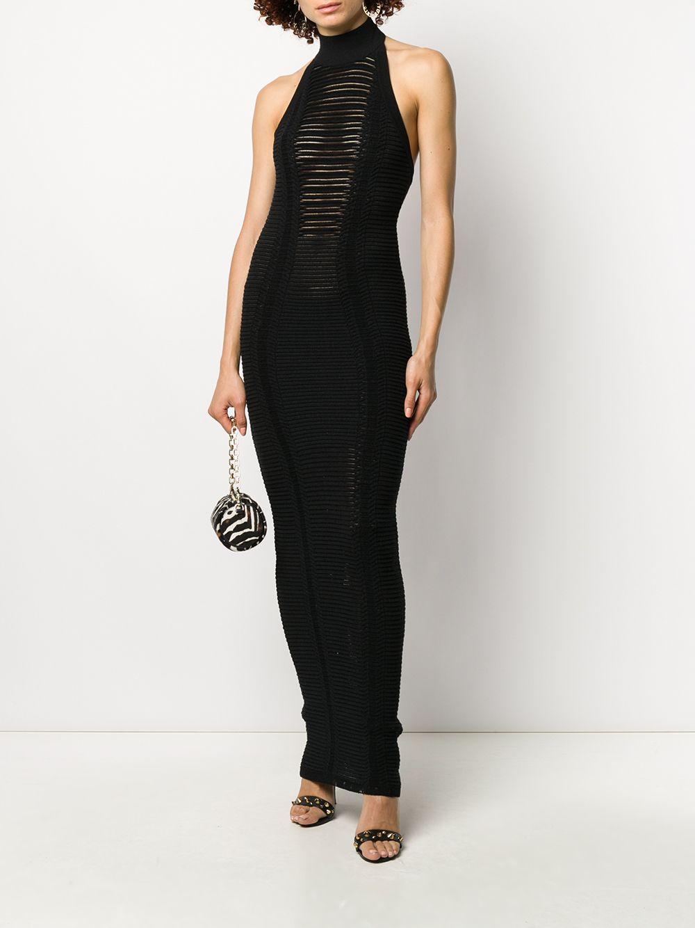 Long Transparent Stripe Dress