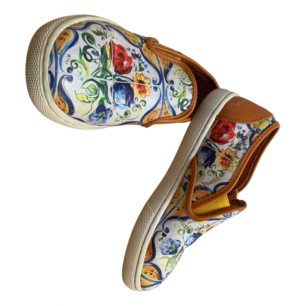 Dolce & Gabbana \N Multicolour Leather Trainers for Kids 10 UK