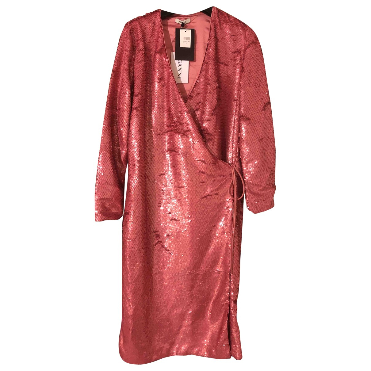 Ganni \N Kleid in  Rosa Mit Pailletten