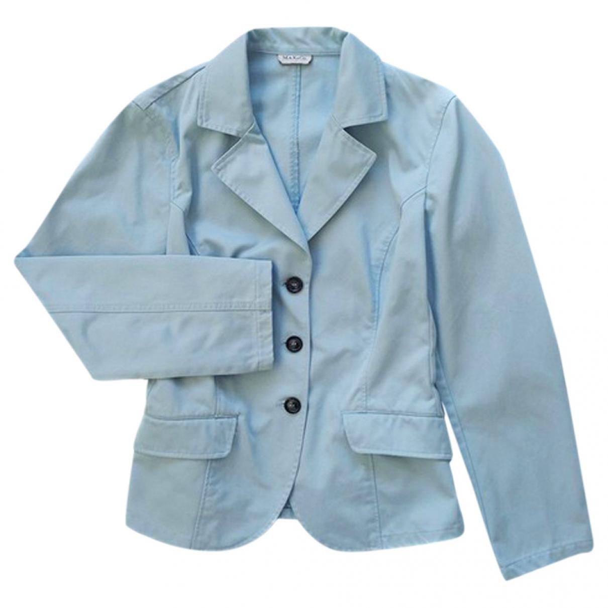 Max & Co - Veste   pour femme en coton - bleu