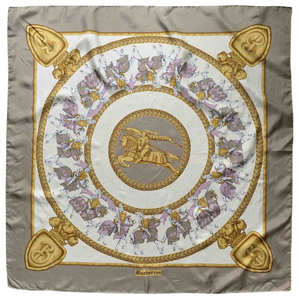 Burberry \N Beige Silk Silk handkerchief for Women \N