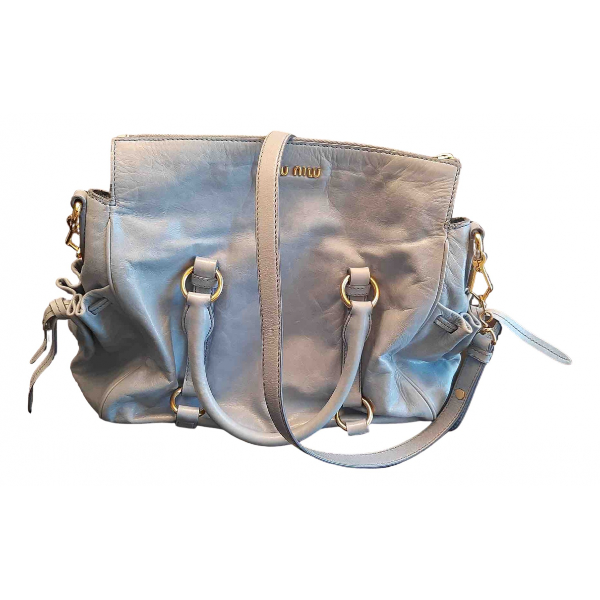 Miu Miu N Grey Leather handbag for Women N