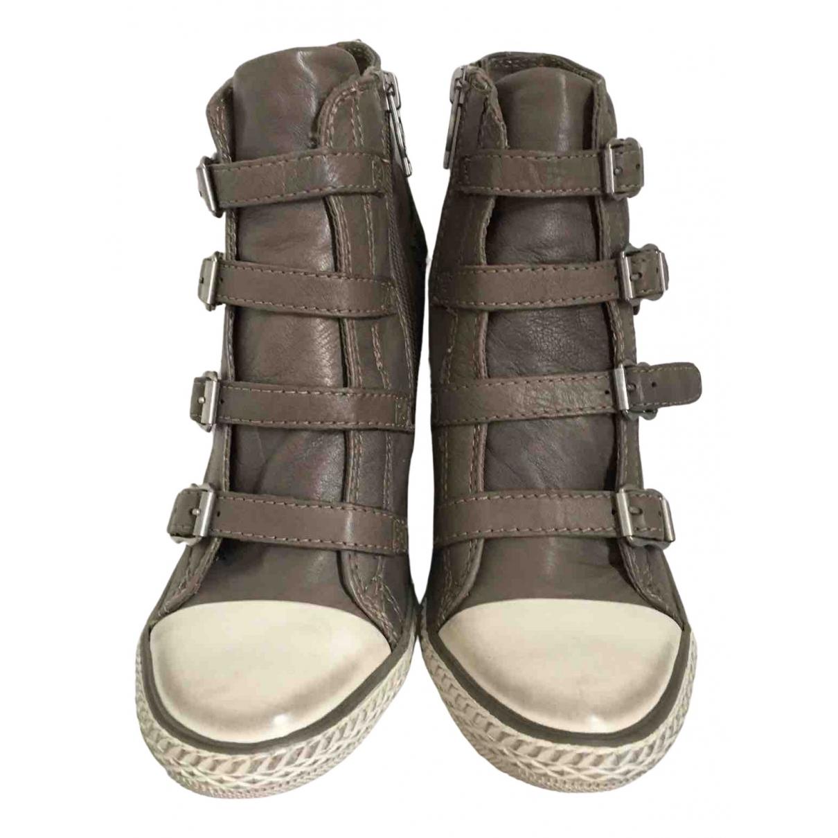 Ash \N Sneakers in  Grau Leder