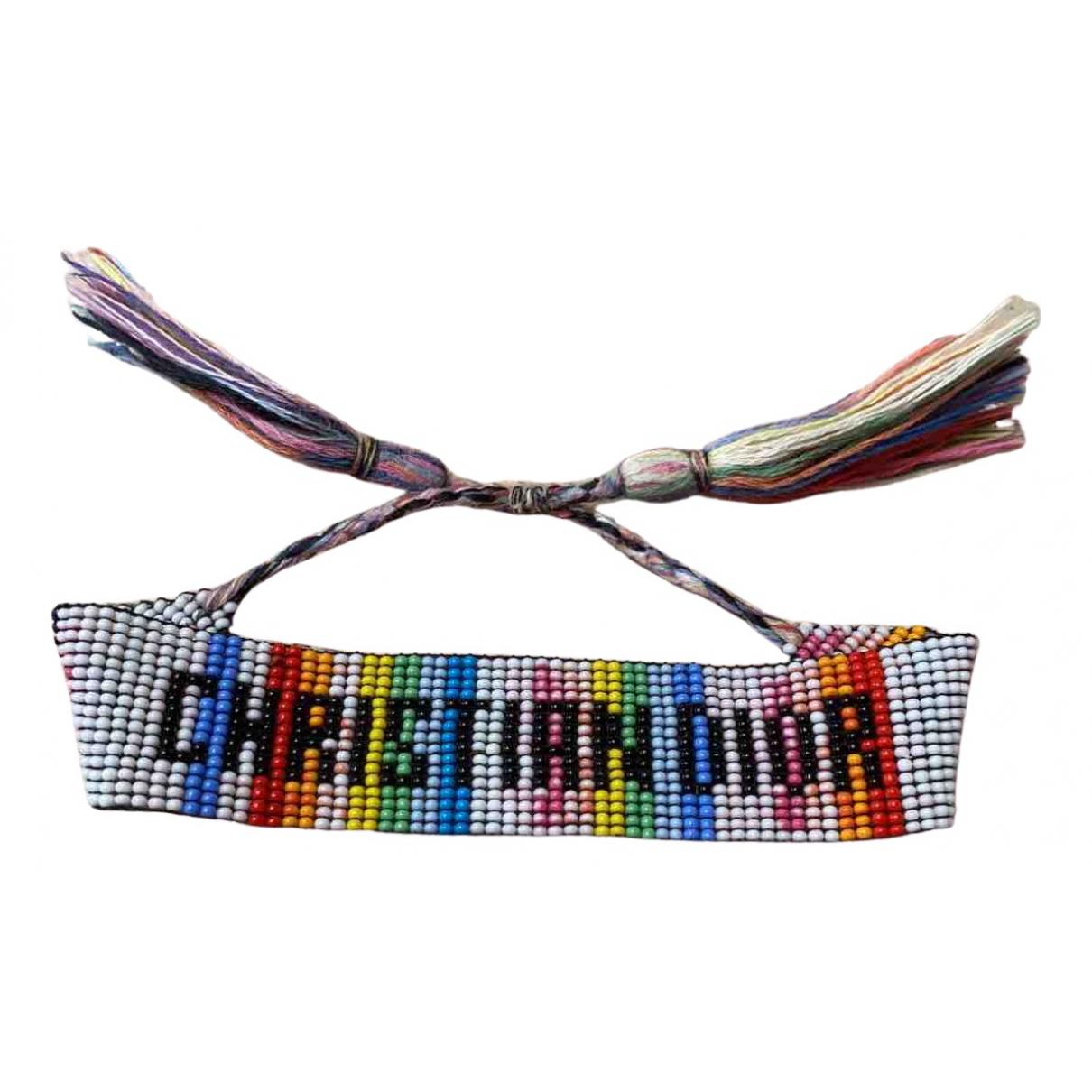 Dior - Bracelet   pour femme en perles - multicolore