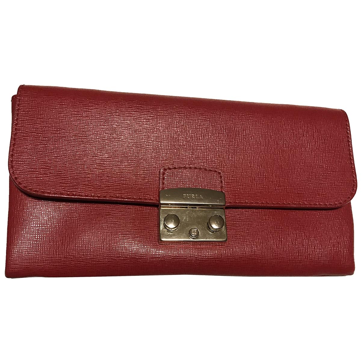 Furla - Pochette   pour femme en cuir - rouge