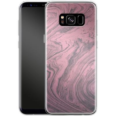 Samsung Galaxy S8 Silikon Handyhuelle - Pink Marble von Emanuela Carratoni