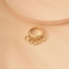 Ring mit Kreis Dekor
