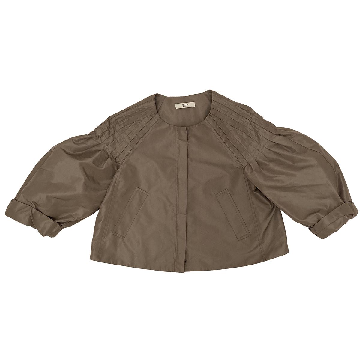 Prada N Beige Silk jacket for Women 44 IT