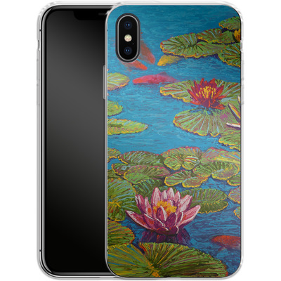 Apple iPhone X Silikon Handyhuelle - Will Cormier - Six Koi in Lilly Pond von TATE and CO