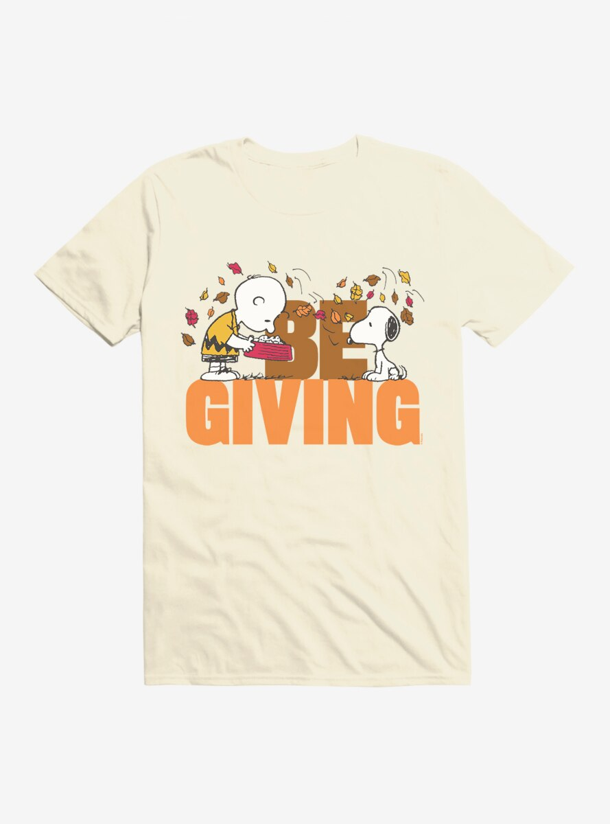 Peanuts Thanksgiving Be Giving T-Shirt