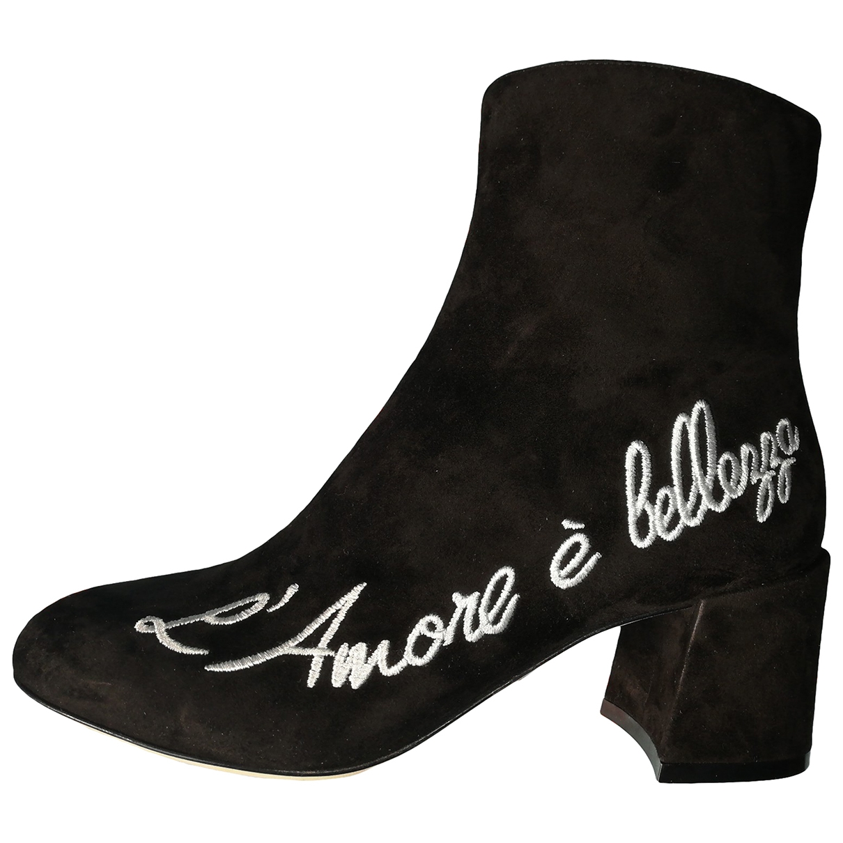 Dolce & Gabbana \N Black Suede Ankle boots for Women 37.5 EU