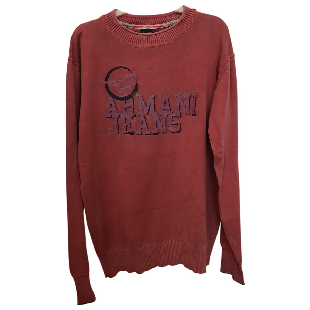 Armani Jeans \N Pullover.Westen.Sweatshirts  in  Blau Baumwolle