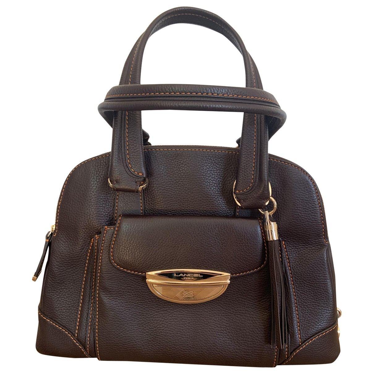 Lancel Adjani Brown Leather handbag for Women \N