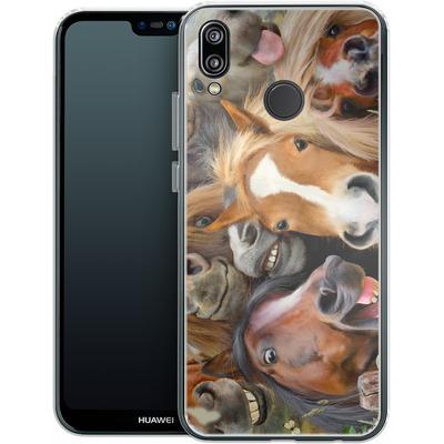 Huawei P20 Lite Silikon Handyhuelle - Horse Selfie von Howard Robinson