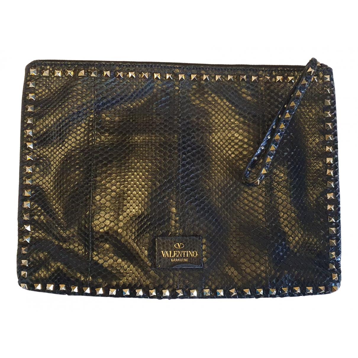 Valentino Garavani \N Black Leather Clutch bag for Women \N