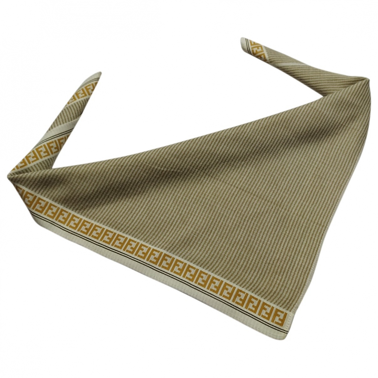 Fendi \N Beige Cotton Silk handkerchief for Women \N