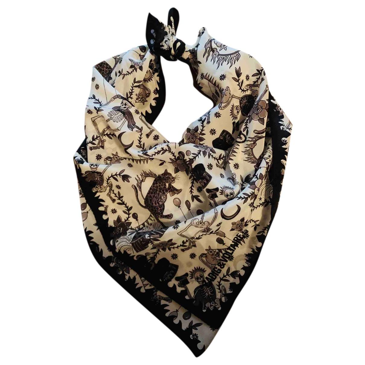 Zadig & Voltaire N Black Silk scarf for Women N