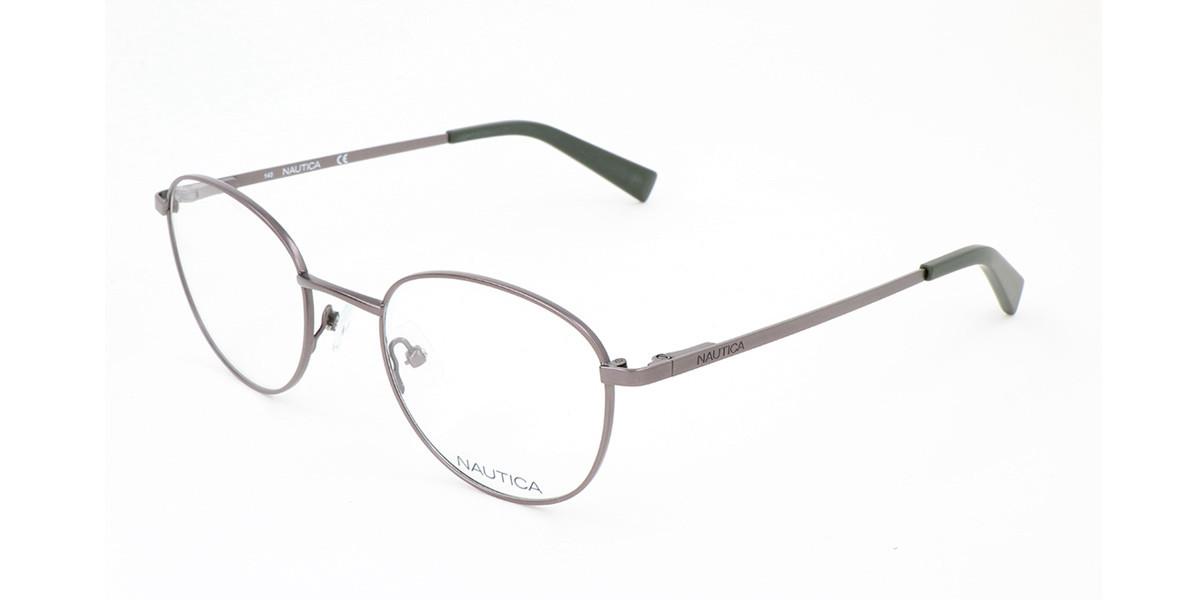 Nautica N7303 030 Men's Glasses Grey Size 49 - Free Lenses - HSA/FSA Insurance - Blue Light Block Available